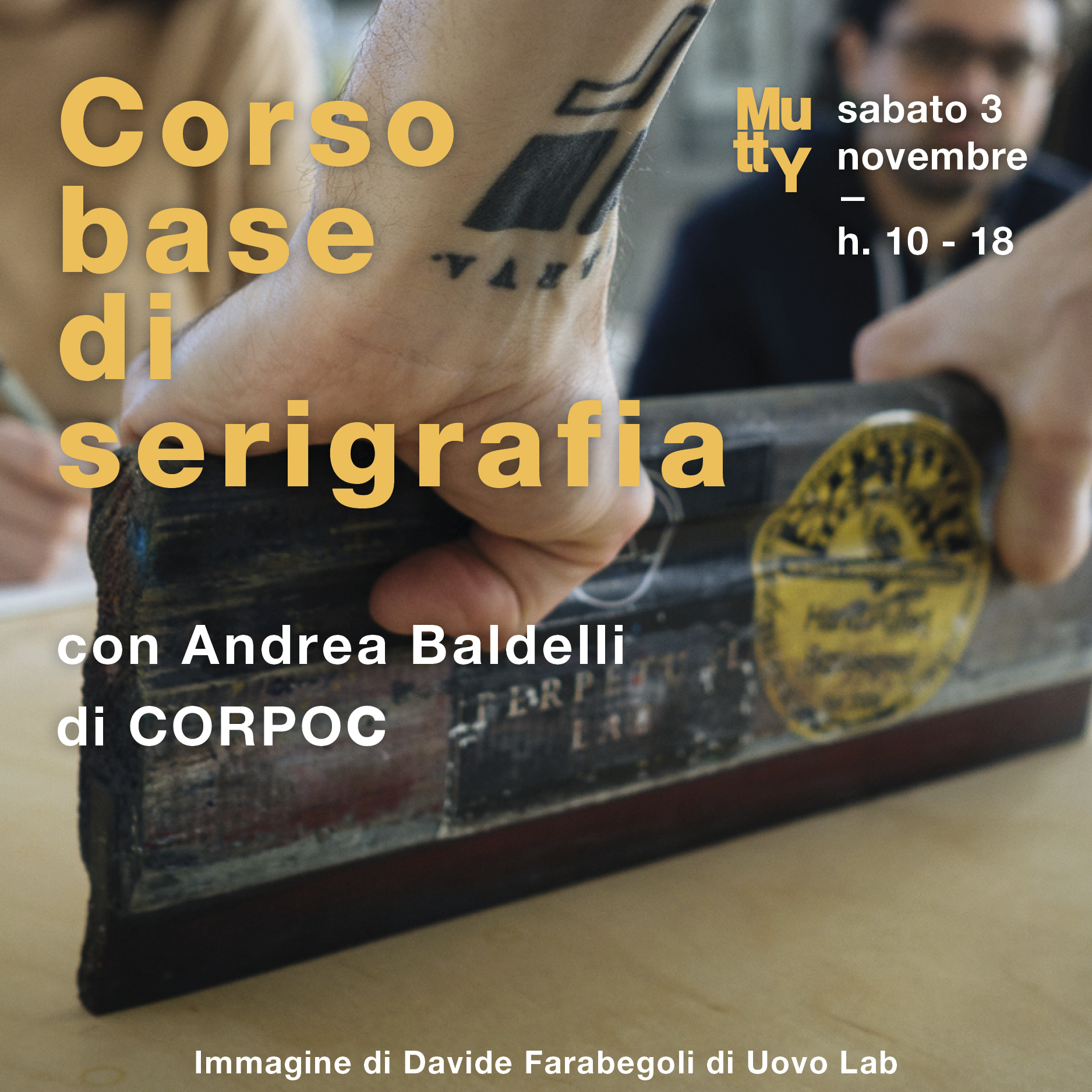 Corso base di Serigrafia con Andrea Baldelli di Corpoc
