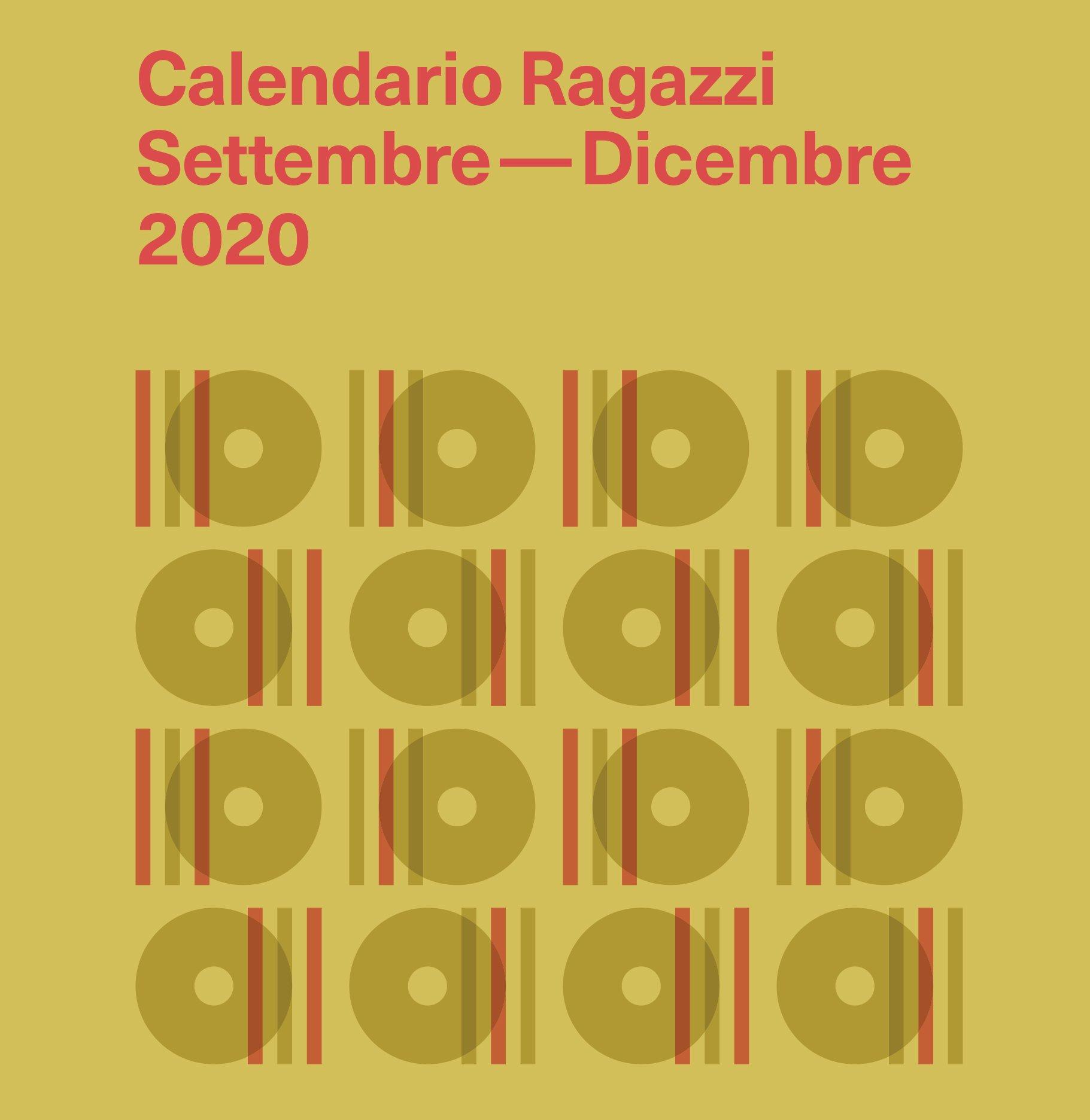 Calendario ragazzi Settembre – Dicembre 2020