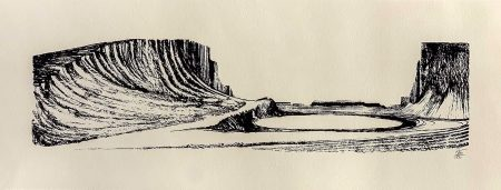 Lorenzo Mattotti Patagonia Serigrafia 66x25 Foto Bassa IMG_2403